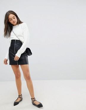 Mini jupe taille haute