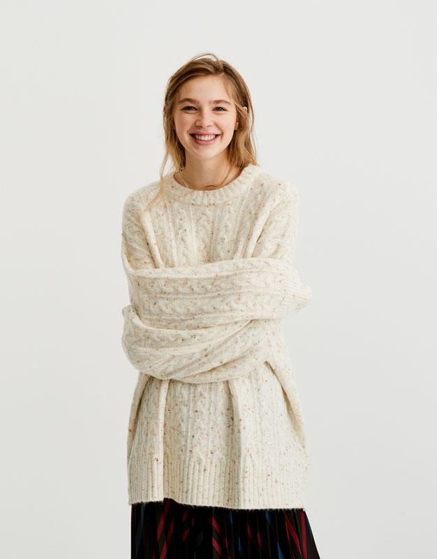 Pull tweed torsades