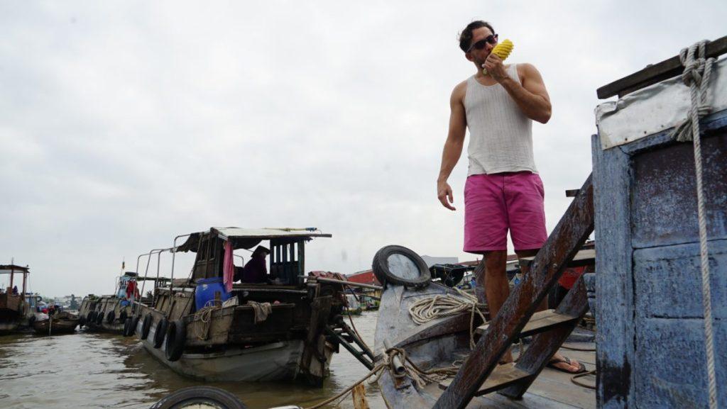 Can Tho Floating Market Boris Ananas