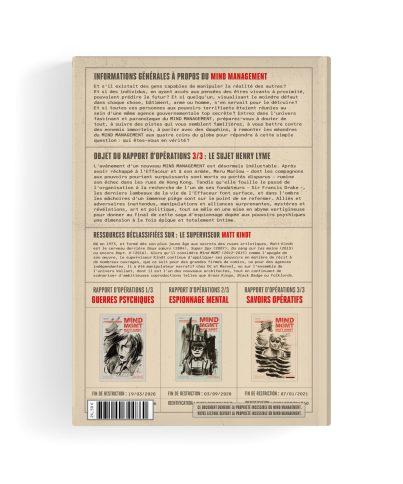Mind MGMT - Rapport d'opérations 3/3 - Quatrième de couverture