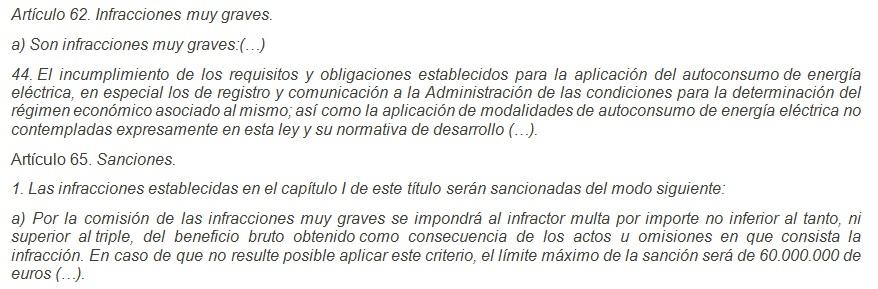 sanciones ¿Es legal el autoconsumo en España?