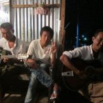 The Inle barbershop band…for letting Steph play your guitar. 07/31/11.