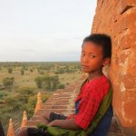 Our 7 year-old guide at Bagan…for making sure we didn't fall while climbing up those brick temples and guiding us to a beautiful view of the sunset. 07/29/11.