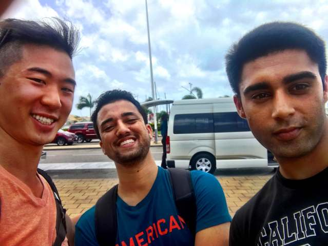 Manish & Gil...for striking up a conversation with me as we we landed in SXM from Saba, as I was genuinely curious what it's like to be a medical student in Saba. Keep in touch and good luck the next 4 years! 07/19/17