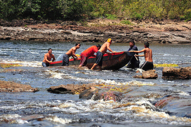 Our guides for Angel Falls…for tirelessly getting out of our speedboats to carry them upriver, killing and serving us bushmeat, guiding us throughout Canaima National Park, and making sure we were well housed and fed throughout our 3 memorable days in the Venezuela jungles. 04/13/15.