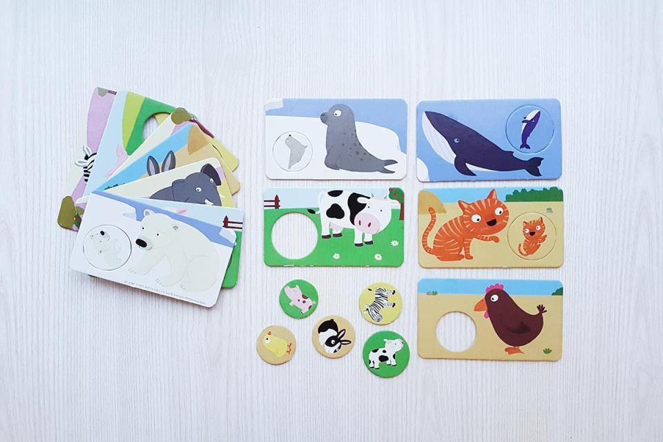puzzle bebés educativos madera mamás bebés