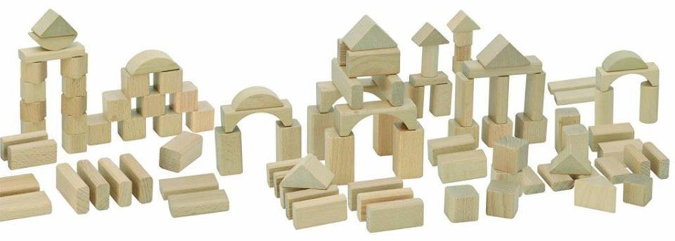 bloques madera juguete construcción