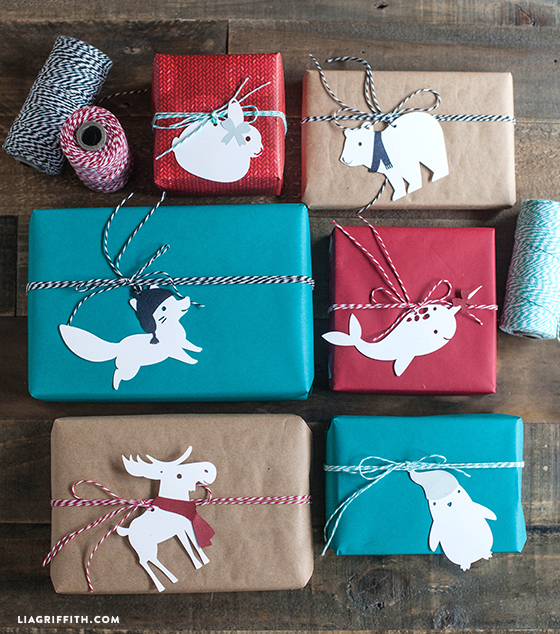 animal gift tags wrapping ideas for christmas envolver regalos para navidad