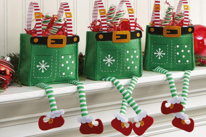 elf treat bags christmas wrapping kids gifts