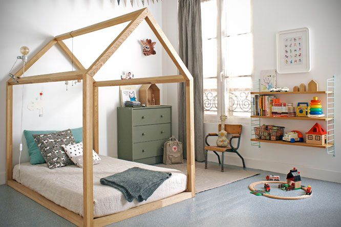 montessori bedroom - habitacion infantil - dormitorio montessori - cama - bed 2