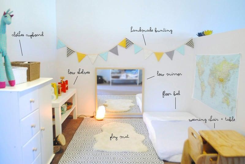 montessori nursery room - habitacion bebe montessori 2
