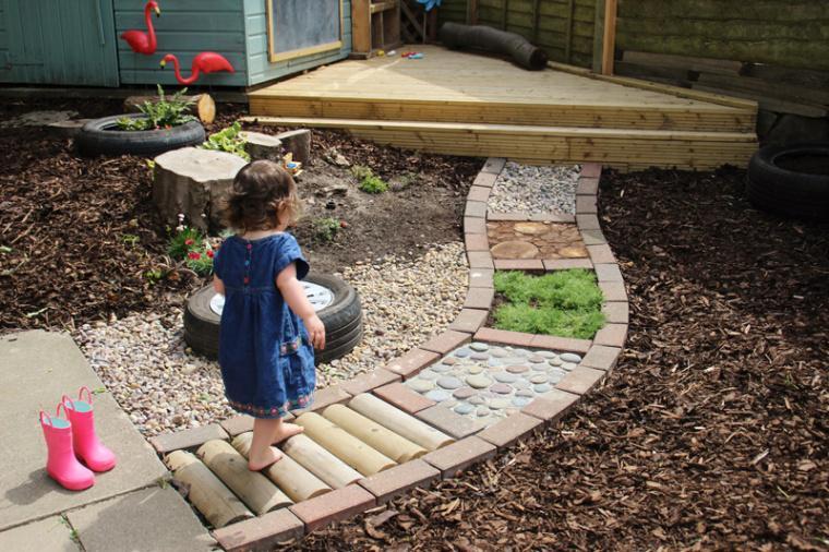 Actividades Sensoriales en Casa - Caminar sobre texturas - Walking on textures 3
