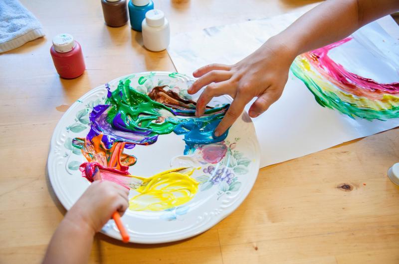 Actividades Sensoriales en Casa - Pintar con los dedos - Finger Painting 2