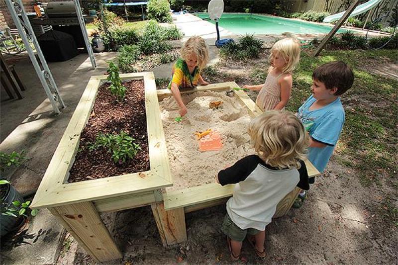 Actividades Sensoriales para hacer en casa con niños - Arenero - Sandbox