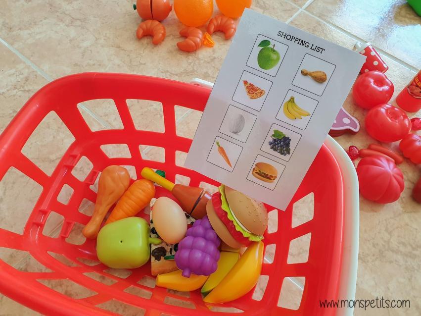 Descargable - Printable - Shopping List - Aprender comida en ingles - Lista de la compra