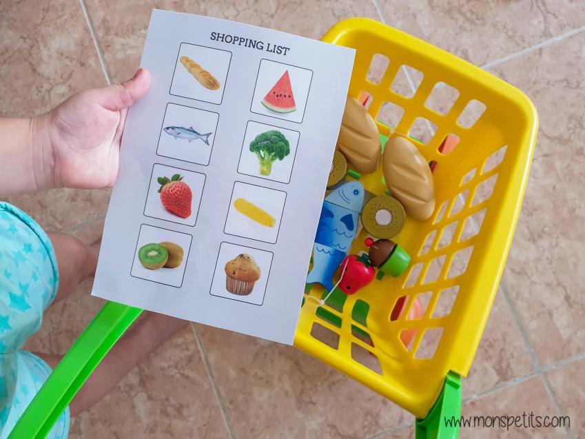 Descargable - Printable - Shopping List - Aprender comida en ingles
