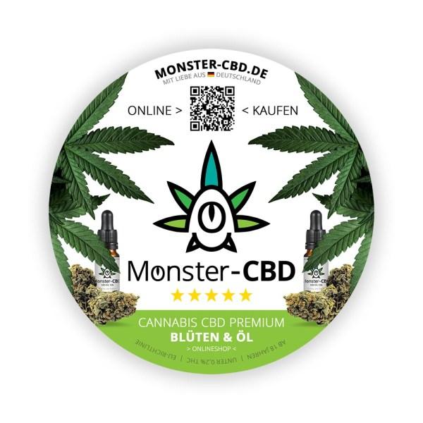Monster-CBD Aufkleber