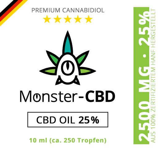 CBD Oil • 25% CBD Premium Öl