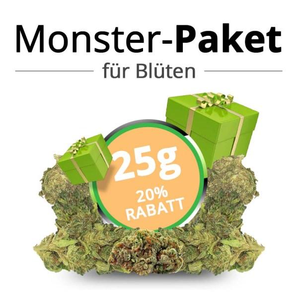 25g Monster-Paket • CBD Premium Blüten • 20% Rabatt