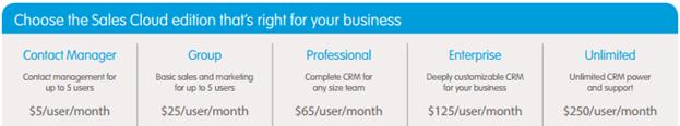 Salesforce Licensing model