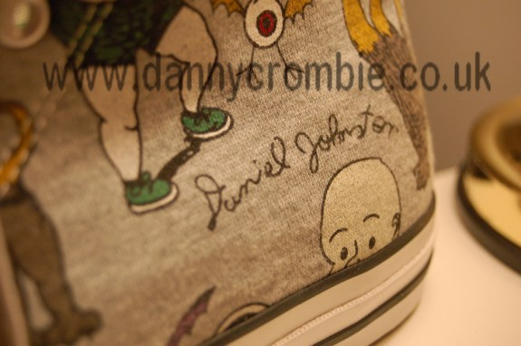 Daniel Johnston converse shoe side heel