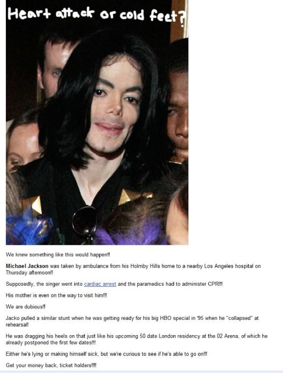 Perez Hilton MJ bullshit