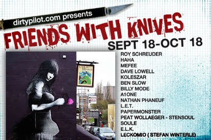 Friends With Knives flyer