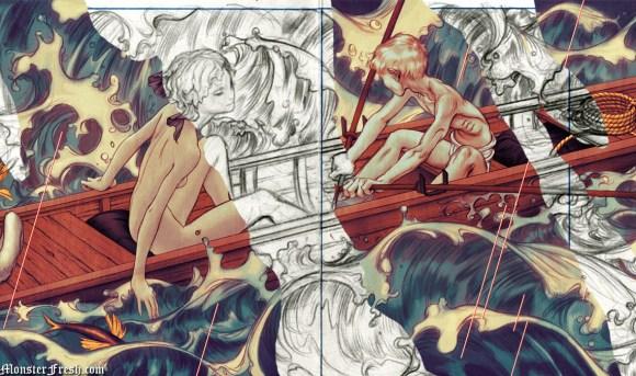 scull sketch & final