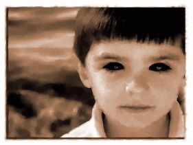 To depict a Black Eyed Child