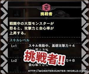 挑戦者 【MHW】モンスターハンターワールド