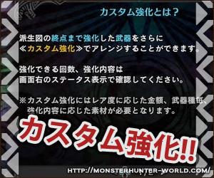 カスタム強化 【MHW】モンスターハンターワールド