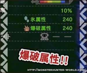 爆破属性 【MHW】モンスターハンターワールド