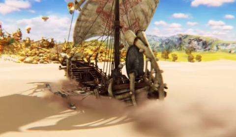 砂漠 帆船
