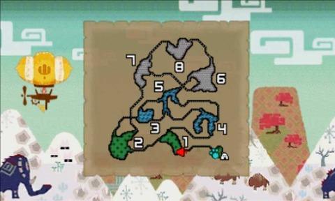 雪山 地図 モンスタハンタークロス MHX