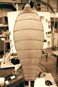Sculpture of the Mimic abdomen, underway.