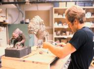 Sculpting the Rancor.