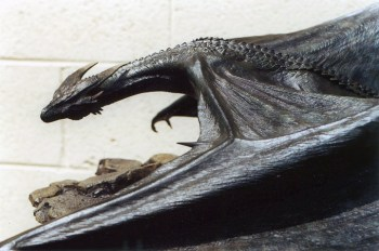 The final Dragon maquette, by Miles Teves, William Basso and Jim McPherson, and painted by Jordu Schell.