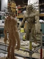 Sculpting the Man-Thing.