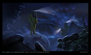 Concept art of Otachi's insides.