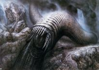 Giger's Sandworm for Jodorowsky's abandoned Dune project.