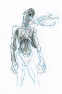 Pale Man concept art by Sergio Sandoval.