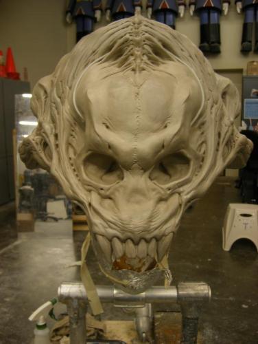 Sculpting the Predalien.