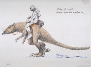 Tauntaun concept art by Ralph McQuarrie
