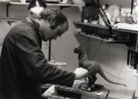 Tippett sculpts the Tauntaun maquette