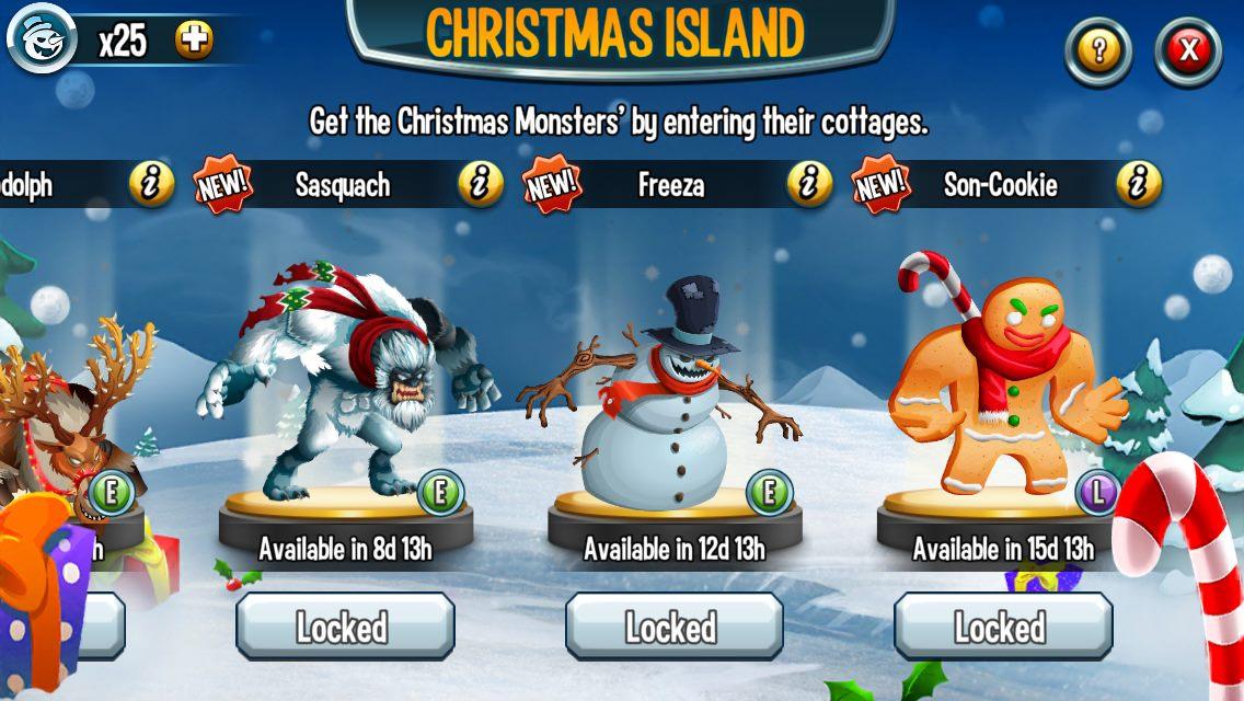 Christmas Island 2014 Monster Legends Guide