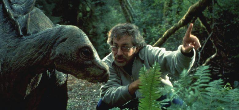 Spielberg con dinosauro