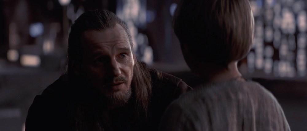 Qui-Gon Jinn e il giovane Anakin