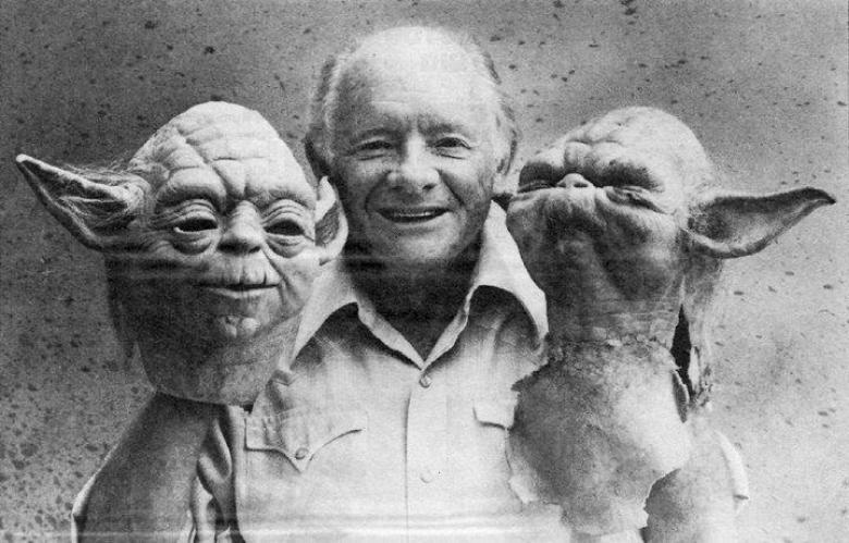 Pupazzo Yoda dietro le quinte