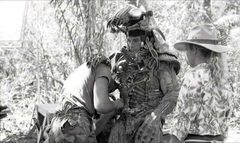 Jean-Claude Van Damme nel costume di Predator