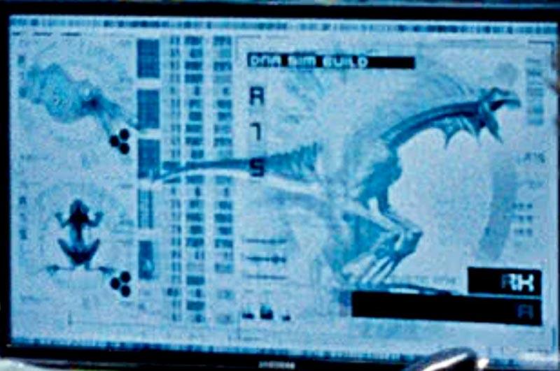 Jurassic World ibridi schermo dottor Wu
